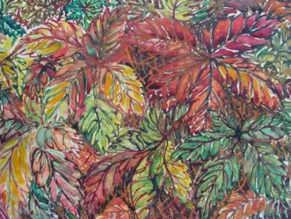 Felicity Potter autumn leaves, watercolour felicity potter