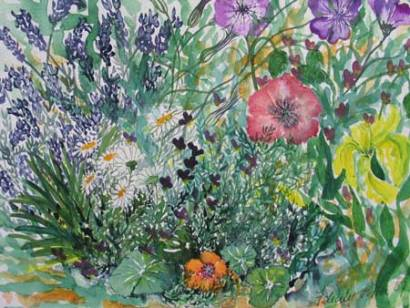 Felicity Potter scatterpack flowers, watercolour, felicity potter