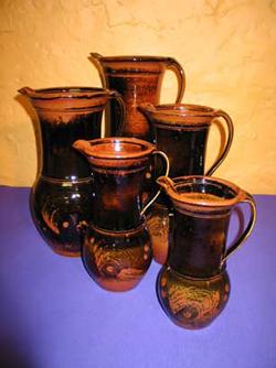 007 gallery, stoneware jugs