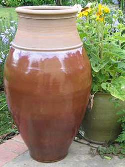 012 gallery, stoneware floor jar 1 100mm tall