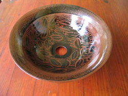 021 gallery, washbasin in tenmoko double glaze
