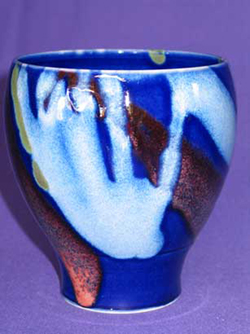 055 gallery, porcelain bowl 160mm tall
