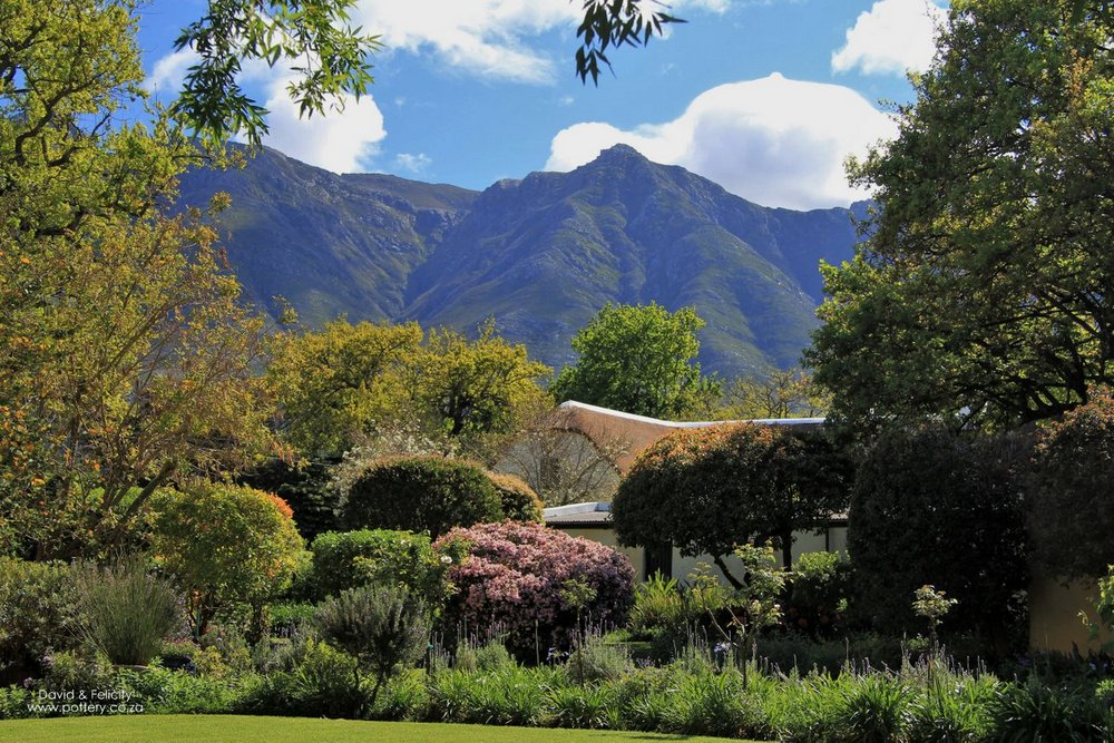 View from the cottage towards the Langeberg Mountains.
