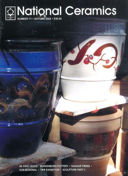 Cover - National Ceramics #71, autumn 2005